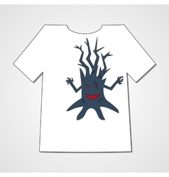 T-shirt with abstract set of monsters vector image