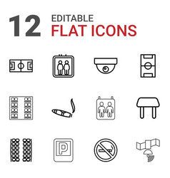 12 area icons vector
