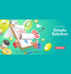 3d conceptual finding vector image