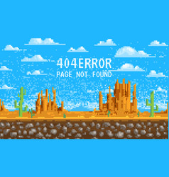 404 error page not found landscape background vector image