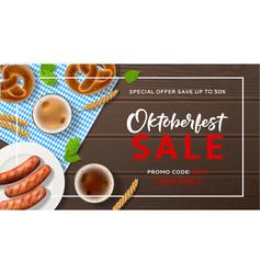 Advertisement banner for oktoberfest sale vector