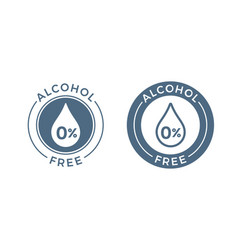 alcohol free icon skin and body care cosmetic vector image