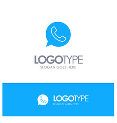 App chat telephone watts app blue solid logo with vector