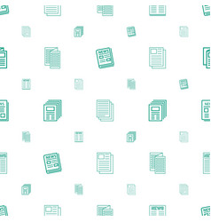 Article icons pattern seamless white background vector