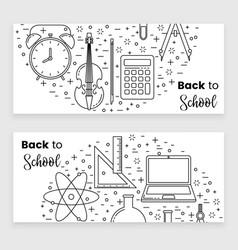 Back to school banner concept vector