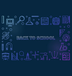 back to school colorful linear vector image