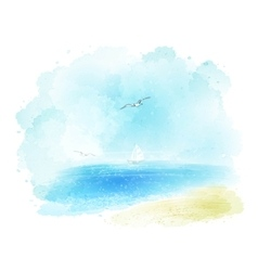 Background a watercolor seascape vector