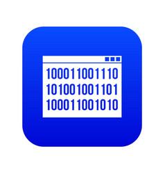 binary code icon digital blue vector image