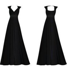 Black women elegant dress vector