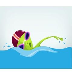 Cartoon Alien Swimmer vector
