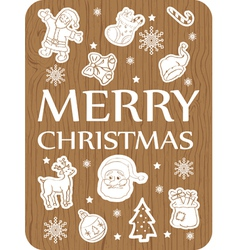 Christmas card wood vector