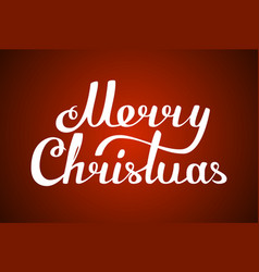 congratulations merry christmas text lettering vector image