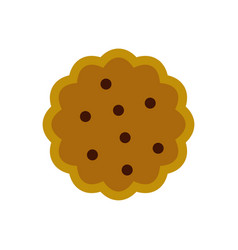 Cookies icon flat style vector