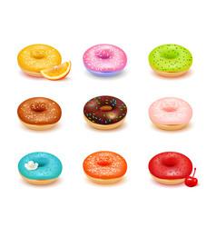 Donuts assortment set vector