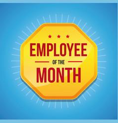 Employee month award badge vector