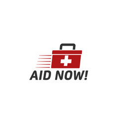 first aid graphic design template vector image
