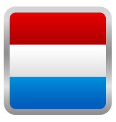 Flag of netherlands square icon - dutch flag vector