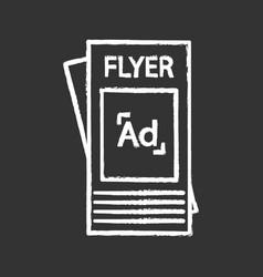 flyer chalk icon vector image
