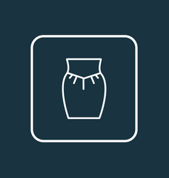 Garment icon line symbol premium quality isolated vector