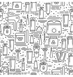 Hair removal methods line seamless pattern vector