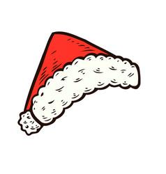 hand drawn santa hat vector image