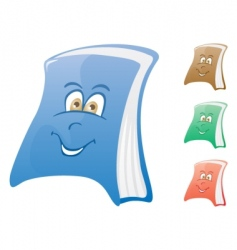 happy book vector image