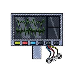 Heartbeat machine equipment vector