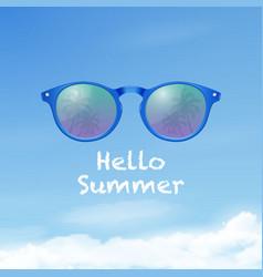 hello summer 3d realistic plastic round vector image