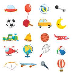 Kids toys vector