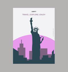 liberty newyork usa vintage style landmark vector image