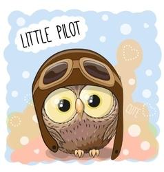 Little Owl Pilot vector image
