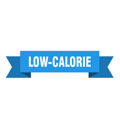 Low-calorie ribbon low-calorie isolated band sign vector