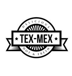 Mexican Cuisine vintage sign - Tex-Mex vector