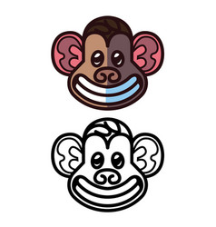 Monkey head logo template vector
