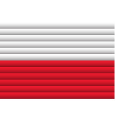 National flag poland for independence day vector