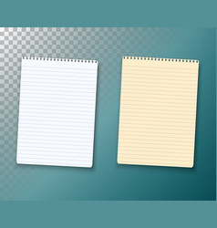 notepad set paper notebook template vector image