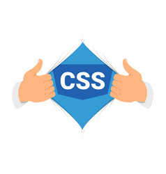 opening shirt css 3 vector image