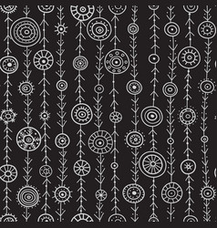 Ornamental circles on lines seamless pattern vector