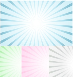 Pastel Abstract Rays vector image