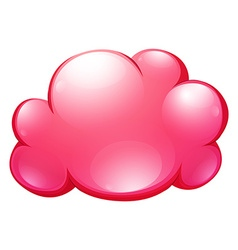 Pink cloud on white vector image