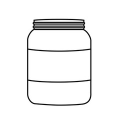 Protein bottle icon vector