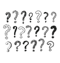 question marks collection vector image