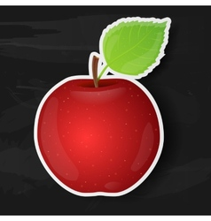 Red apple isolated on black background vector