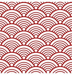 Red White Traditional Wave Japanese Chinese vector