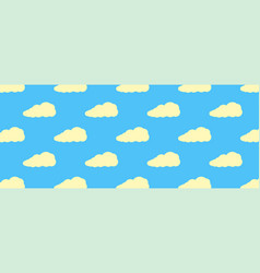 seamless pattern from yellow clouds flat clouds vector image