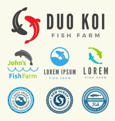set fish logo for your business vector image