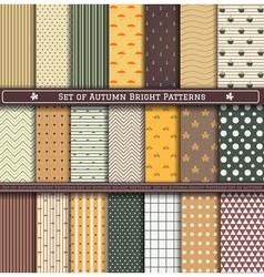 Set of autumn Pattern vector