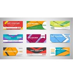Set of gift vouchers material design vector image