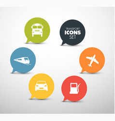 Set of round flat transport pointers vector