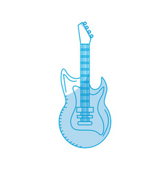 Silhouette electric guitar musical instrument to vector